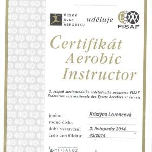 Certifikát Aerobic
